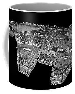 Millennium Falcon Coffee Mug by Kevin Fortier