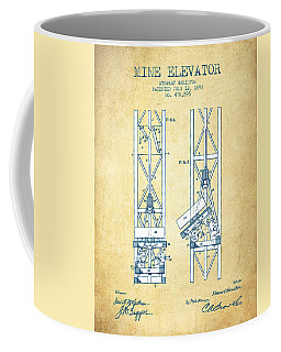 Mine Elevator Patent From 1892 - Vintage Paper Coffee Mug
