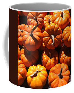 Coffee Mug featuring the photograph Mini Fall Pumpkins by Denyse Duhaime