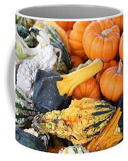 Coffee Mug featuring the photograph Mini Pumpkins And Gourds by Cynthia Guinn