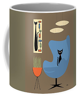 Coffee Mug featuring the digital art Mini Rectangle Cat by Donna Mibus