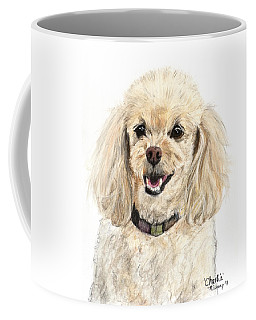 Miniature Poodle Painting Champagne Coffee Mug by Kate Sumners