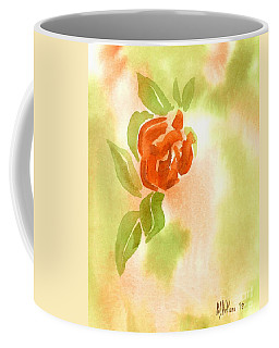 Coffee Mug featuring the painting Miniature Red Rose II by Kip DeVore