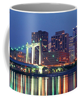 Minneapolis Skyline At Night Coffee Mug
