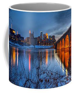Minneapolis Skyline Images Stone Arch Bridge Spring Evening Coffee Mug
