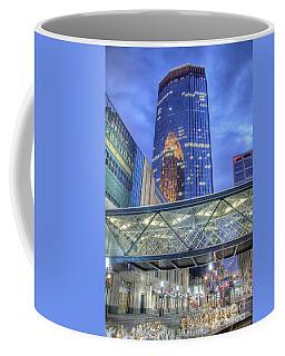 Minneapolis Skyline Photography Nicollet Mall Winter Evening Coffee Mug