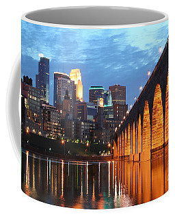 Minneapolis Skyline Photography Stone Arch Bridge Coffee Mug