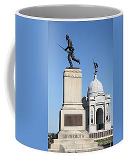 Minnesota And Pennsylvania Monuments At Gettysburg Coffee Mug