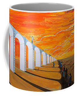 Coffee Mug featuring the painting Mirages Of Lives - The Path - by Lazaro Hurtado