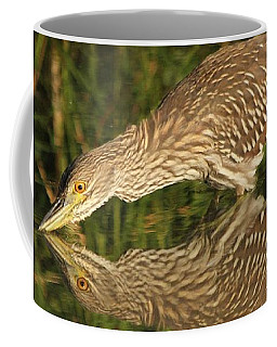 Mirror Mirror On The Wall Who Is The Fairest Heron Of All Coffee Mug by Heather King