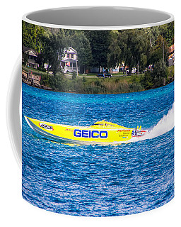 Miss Geico With Rooster Tail Coffee Mug