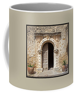 Mission San Jose Chapel Entry Doorway Coffee Mug by John Stephens