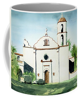 Coffee Mug featuring the painting Mission San Luis Rey Colorful II by Kip DeVore