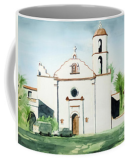 Coffee Mug featuring the painting Mission San Luis Rey  by Kip DeVore
