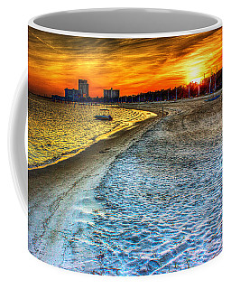 Beach - Coastal - Sunset - Mississippi Gold Coffee Mug by Barry Jones