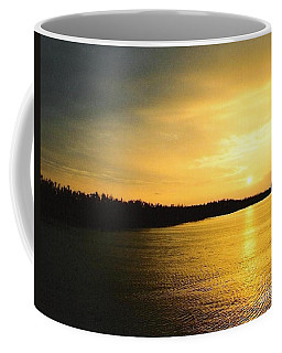 Coffee Mug featuring the photograph Sunrise Over The Mississippi River Post Hurricane Katrina Chalmette Louisiana Usa by Michael Hoard