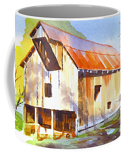 Coffee Mug featuring the painting Missouri Barn In Watercolor by Kip DeVore