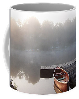 Mist Floating Over The Lake Coffee Mug