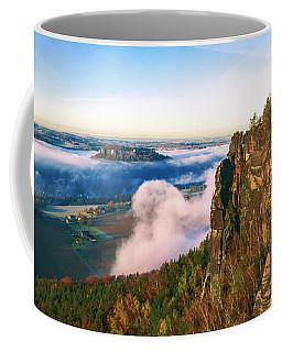 Mist Flow Around The Fortress Koenigstein Coffee Mug