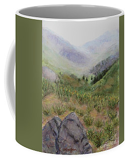 Mist In The Glen Coffee Mug by Laurie Morgan