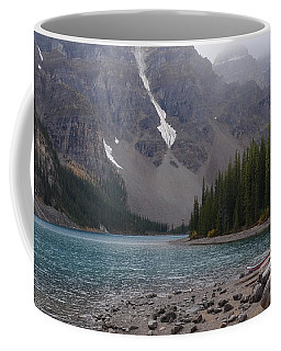 Mist Over Lake Moraine Coffee Mug by Cheryl Miller