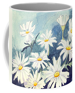 Coffee Mug featuring the painting Misty Daisies by Katherine Miller