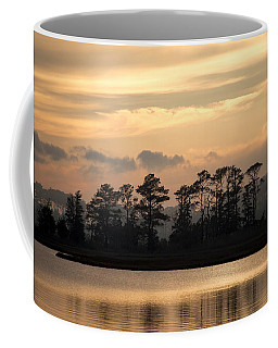 Coffee Mug featuring the photograph Misty Island Of Assawoman Bay by Bill Swartwout
