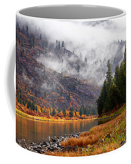 Coffee Mug featuring the photograph Misty Montana Morning by Mary Jo Allen