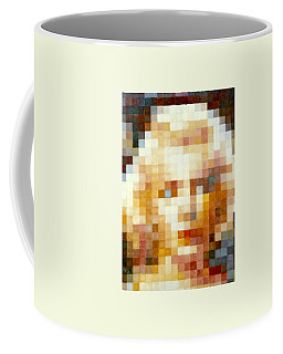 Coffee Mug featuring the painting Marylin by Henryk Gorecki