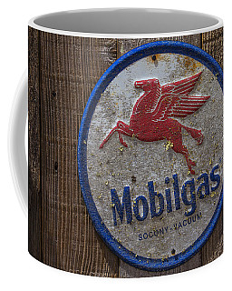 Mobil Gas Sign Coffee Mug