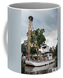 Coffee Mug featuring the photograph Mobile Osprey Nest by Brian Wallace