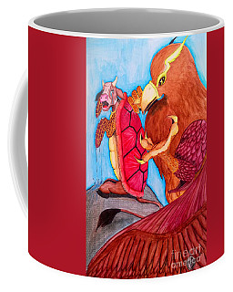 Coffee Mug featuring the painting Mock Turtle And Griffon by Justin Moore