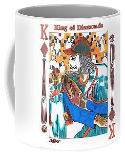 Modern King O' Diamonds Coffee Mug by Seth Weaver
