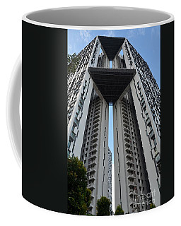 Coffee Mug featuring the photograph Modern Skyscraper Apartment Building Singapore by Imran Ahmed