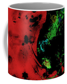Coffee Mug featuring the mixed media Modern Squid by Ally  White