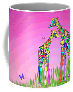 Mom And Baby Giraffe Unconditional Love Coffee Mug