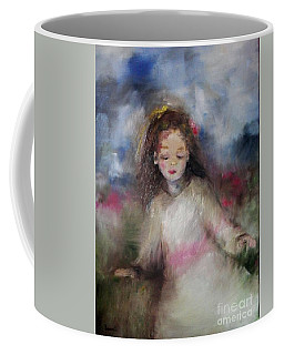 Coffee Mug featuring the painting Mommy's Little Girl by Laurie Lundquist