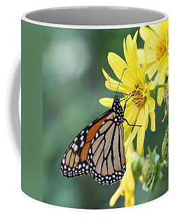 Coffee Mug featuring the photograph Monarch Beauty by Doris Potter