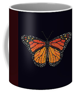 Monarch Butterfly Bedazzled Coffee Mug