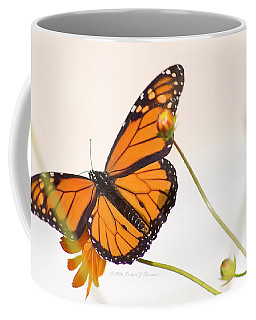 Monarch Butterfly In Flight Coffee Mug