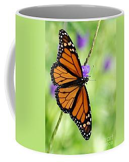 Monarch Butterfly In Spring Coffee Mug