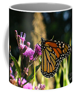 Coffee Mug featuring the photograph Monarch Butterfly by Lingfai Leung