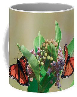 Coffee Mug featuring the photograph Monarch Gathering by Kerri Farley