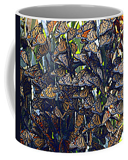 Monarch Mosaic Coffee Mug by AJ  Schibig