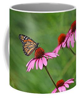 Monarch On Garden Coneflowers Coffee Mug