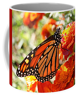 Monarch On Marigold Coffee Mug