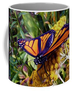 Monarch On Yarrow Coffee Mug