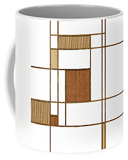 Mondrian In Wood Coffee Mug