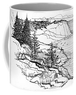 Monhegan Cliffs 1987 Coffee Mug