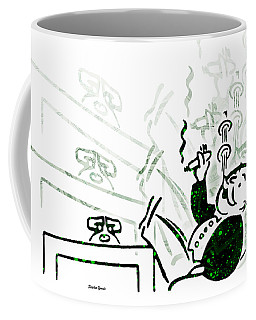 Monopoly Man - Bank Dividend Coffee Mug by Stephen Younts